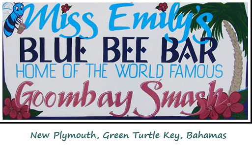 Goombay Smash sign from Green Turtle Key