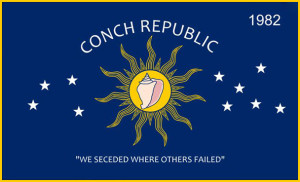 conch republic flage image for the Florida Keys Guide