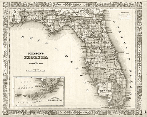 florida map keys map