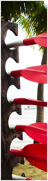 kayak paddle rack for Florida Keys kayaking