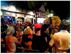 Duvall Street on Florida Keys nightlife